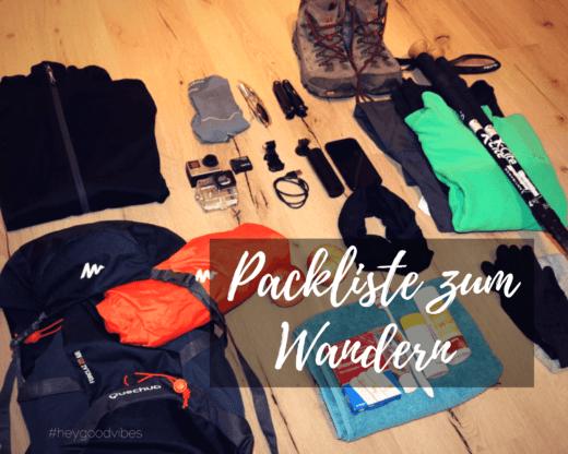 Packliste zum Wandern/ Hüttentour