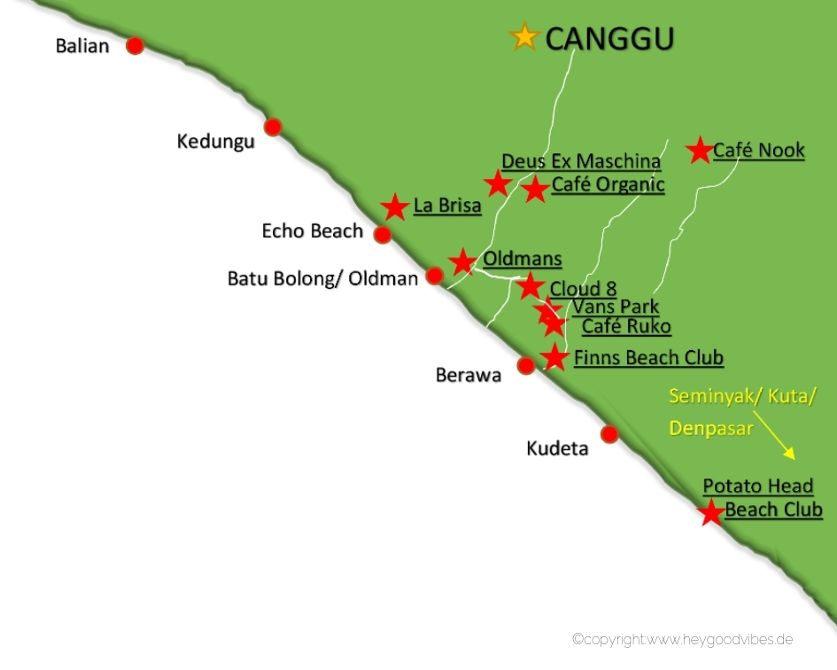 Bali Karte Canggu.Travelguide Bali Die Highlights Von Canggu Hey Good Vibes