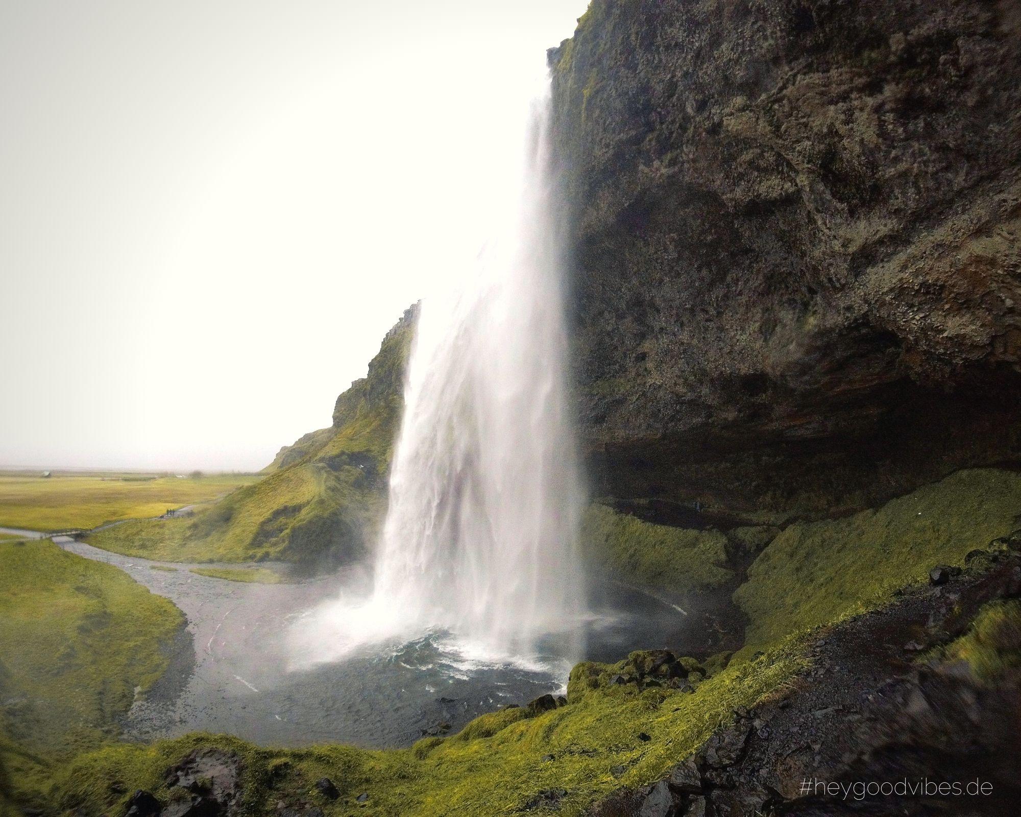 Island Wasserfall Seljalandfoss