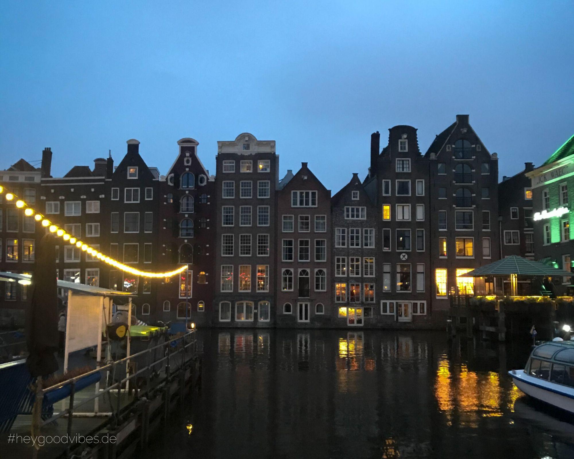 Amsterdam Grachten Häuser