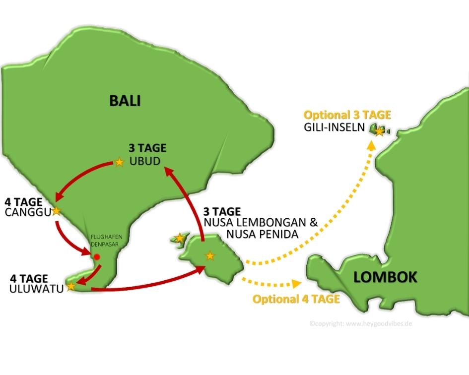 Karte Map Bali